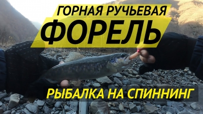 Форелевая рыбалка в горах Чечни в декабре - Trout fishing in the mountains of Chechnya in december